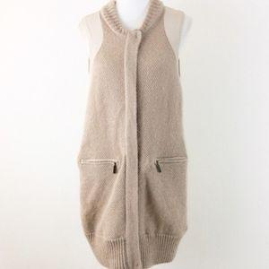 Anthropology Shae Cream Vest Size L